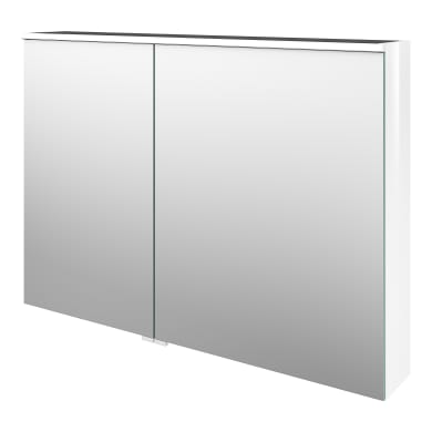 Specchio contenitore con illuminazione L 105 x P 17 x H 75 cm bianco lucido Sensea