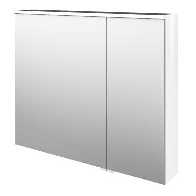 Specchio contenitore con illuminazione Neo L 90 x P 17 x H 75 cm bianco lucido Sensea