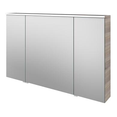 Specchio contenitore con illuminazione Neo L 120 x P 17 x H 75 cm argento legno ed effetto legno Sensea