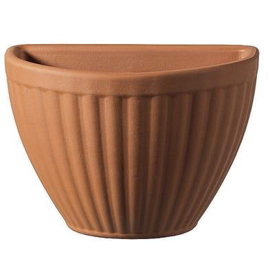 Vaso Rigata in terracotta colore cotto H 17 cm, L 25 x P 12 cm