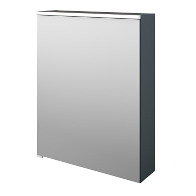 Specchio contenitore con illuminazione Neo L 60 x P 17 x H 75 cm argento opaco Sensea