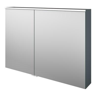 Specchio contenitore con illuminazione Neo L 105 x P 17 x H 75 cm argento opaco Sensea