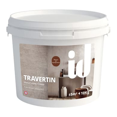 Pittura decorativa LES DECORATIVES Travertino 10 kg marrone terra di sabbia travertino