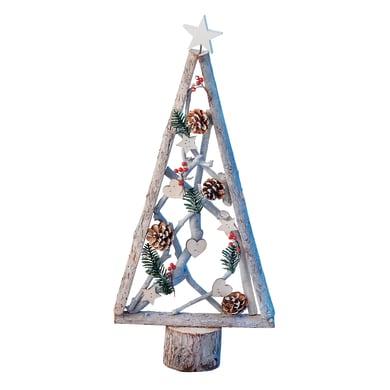 Albero di Natale in legno H 62 cm, L 29 cm