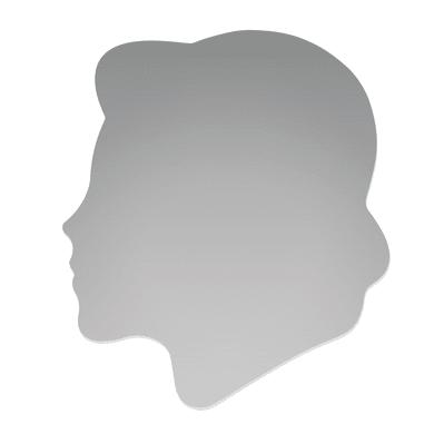 Specchio non luminoso bagno quadrata Sandra L 60 x H 60 cm
