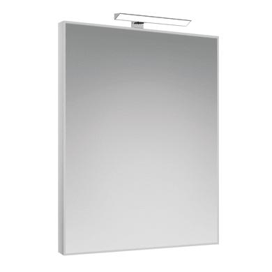 Specchio con faretto bagno rettangolare Frame L 60 x H 80 cm