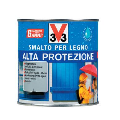 Smalto per legno da esterno base acqua V33 Alta protezione bianco 0.5 L