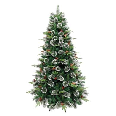 Albero di natale artificiale Cortina verde, punte bianche H 150 cm