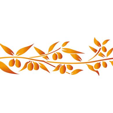 Stencil tema frutti e fiori LES DECORATIVES Olivier 40.0 x 0.1 cm