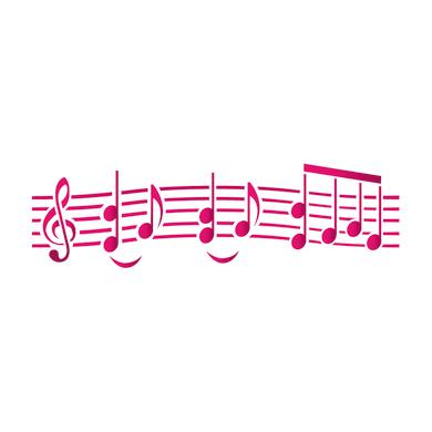 Stencil tema lettere, parole e numeri LES DECORATIVES Musica 40.0 x 0.1 cm