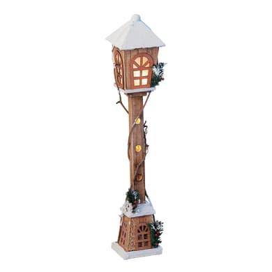 Lampione in legno , L 17 cm  x P 17 cm