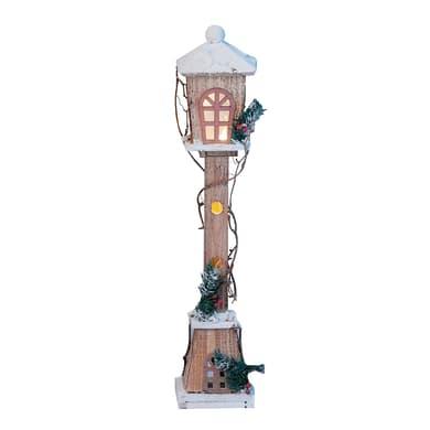 Lampione in legno , L 13 cm  x P 13 cm