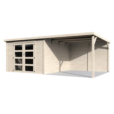 Casetta da giardino in legno Eva,  superficie interna 8.65 m² e spessore parete 19 mm