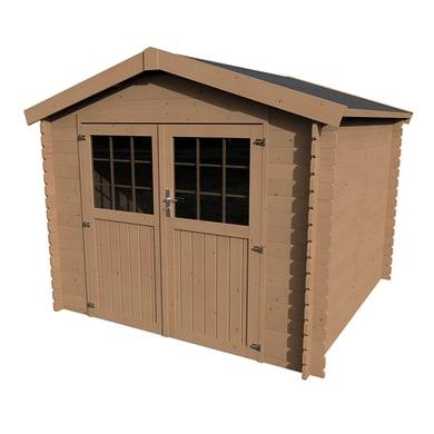 Casetta da giardino in legno Impregnata Primula,  superficie interna 5.9 m² e spessore parete 28 mm