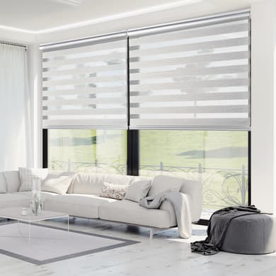 Tenda a rullo Platinum text grigio 120x250 cm