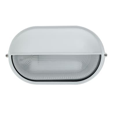 Plafoniera IBIZA-LD BCO in alluminio + vetro, bianco, E27 MAX42W IP44