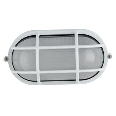 Plafoniera IBIZASP-BCO in alluminio + vetro, bianco, E27 MAX42W IP44