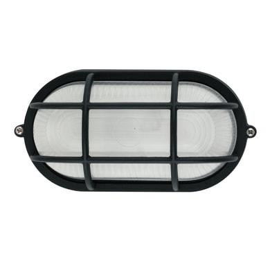 Plafoniera IBIZA-SP NRO in alluminio + vetro, nero, E27 MAX42W IP44