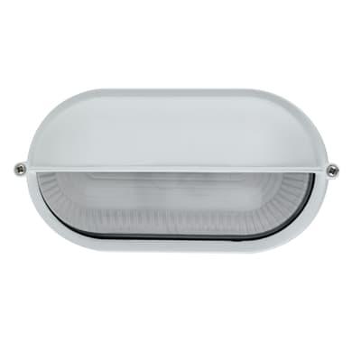 Plafoniera IBIZASD-BCO in alluminio + vetro, bianco, E27 MAX42W IP44