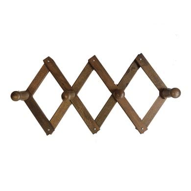 Appendiabiti in legno 4 ganci
