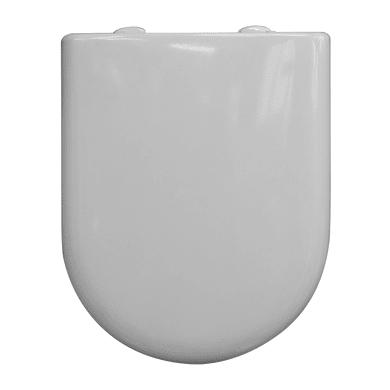 Copriwater quadrato Universale Luna plastica termoindurente bianco