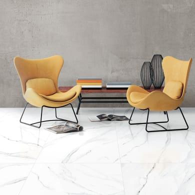 Piastrella Statuario H 60 x L 60 cm  normal bianco