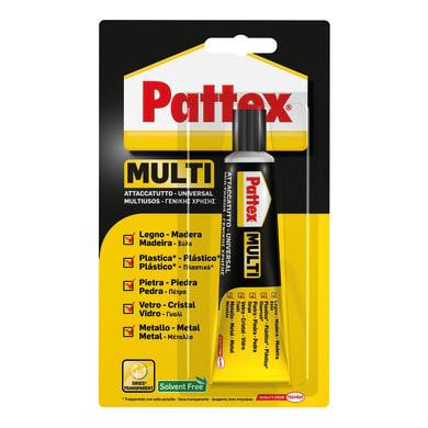 Colla a contatto per legno<multisep/>carta<multisep/>metallo<multisep/>cuoio<multisep/>pvc<multisep/>abs PATTEX Multi 20 ml
