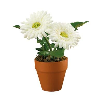 Pianta artificiale Gerbera in vaso H 18 cm