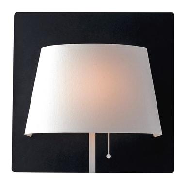 Applique moderno Wharol LED integrato bianco, nero, in alluminio, 25 cm,