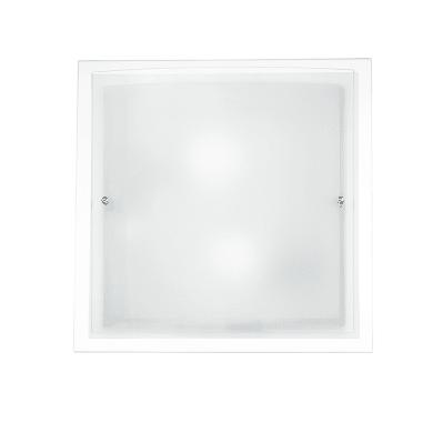 Plafoniera classico Doppio trasparente, in vetro, 40x40 cm, 2  luci