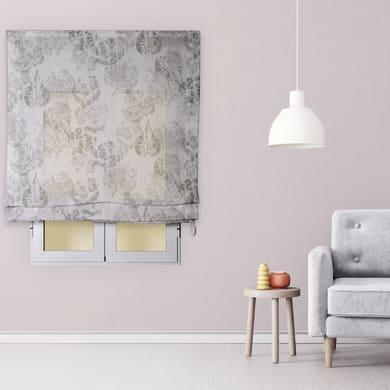 Tendina pieghevole in tessuto INSPIRE Fogliabella grigio / argento 90x175 cm