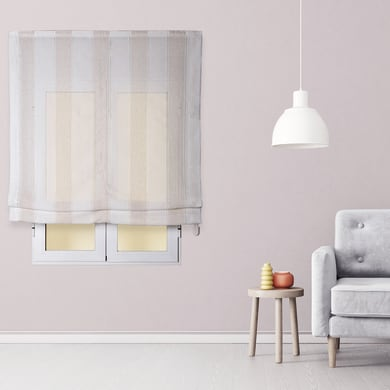Tendina pieghevole in tessuto INSPIRE Riga Larga beige / bianco 90x175 cm