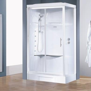 Cabina doccia idromassaggio rettangolare CAYENNE 80 x 120 cm