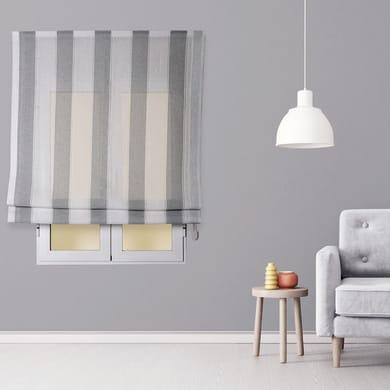 Tendina pieghevole in tessuto INSPIRE Riga Larga grigio / bianco 90x175 cm