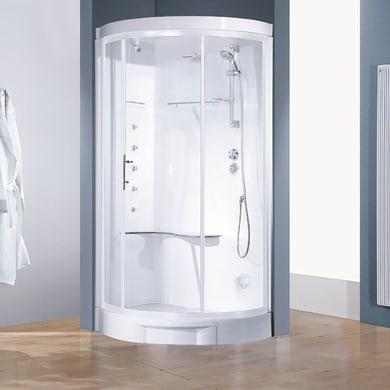 Cabina doccia idromassaggio semicircolare CAYENNE 115 x 115 cm