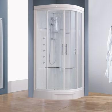 Cabina doccia idromassaggio semicircolare CAYENNE 90 x 90 cm