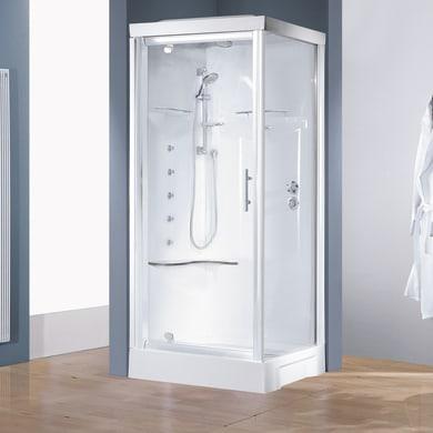 Cabina doccia idromassaggio quadrato CAYENNE 80 x 80 cm