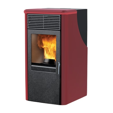 Stufa a pellet Dotty2 8.2 kW bordeaux