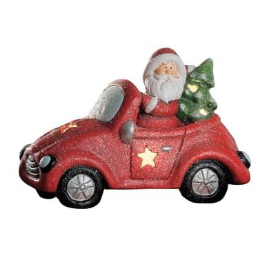 Macchina con Babbo Natale in ceramica , L 38 cm  x P 19 cm