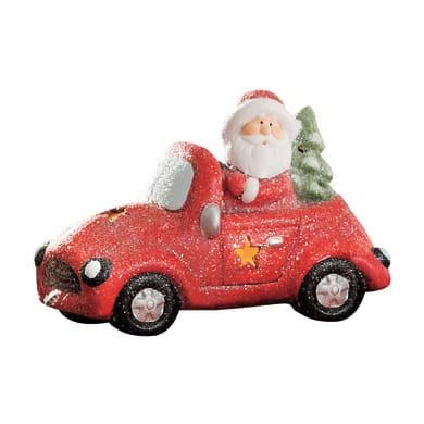 Macchina con Babbo Natale in ceramica , L 20 cm  x P 11 cm