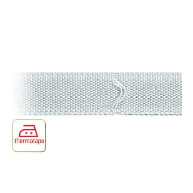 Fettuccia per tende a pacchetto termoadesivo bianco 1.6 cm x 100 m