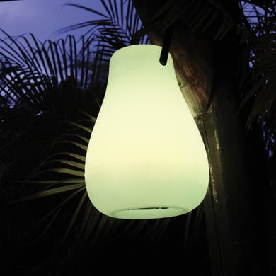 Lampada da esterno KURBY 38 H37cm, in plastica, luce colori cangianti, LED integrato IP65