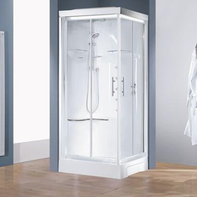 Cabina doccia idromassaggio quadrato CAYENNE 90 x 90 cm