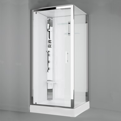 Cabina doccia idromassaggio quadrato ROYAL 90 x 90 cm
