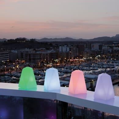 Lampada da esterno Faralay H39cm, in plastica, luce colori cangianti, LED integrato IP65