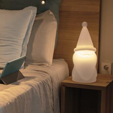 Lampada da esterno Amelio H41cm, in plastica, luce bianco caldo, E27 650LM IP65 NEWGARDEN
