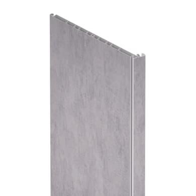 Pannello aggiuntivo per porta a soffietto in pvc cemento L 125 x H 209 mm, Sp 1 cm
