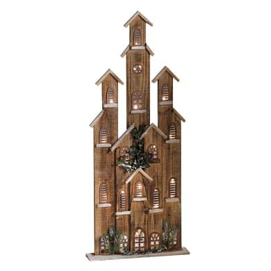 Casetta a led in legno , L 42 cm  x P 9 cm