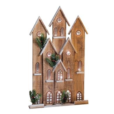 Casetta a led in legno , L 25 cm  x P 8 cm