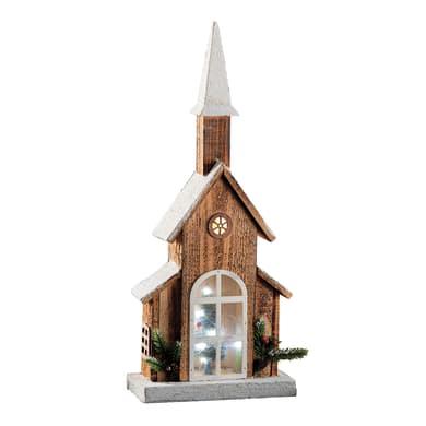 Casetta a led in legno , L 24 cm  x P 11 cm